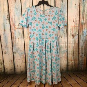 NWT LuLaRoe Lady Bug Print Amelia Dress XL